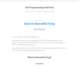 The Programming Historian 2: Intro to Beautiful Soup