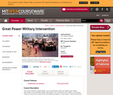 Great Power Military Intervention, Fall 2013