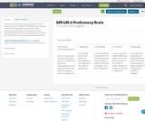 MS-LS1-6 Proficiency Scale