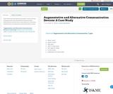 Augmentative and Alternative Communication Devices: A Case Study