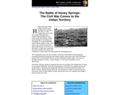 The Battle of Honey Springs: The Civil War Comes to the Indian Territory