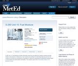S-290 Unit 10: Fuel Moisture