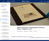 Talbot's Processes - Photographic Processes Series - Chapter 3 of 12