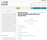 The American Dream and Social Stratification Lesson Unit