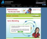 Annenberg Learner Interactives: Ionic Bonding Game