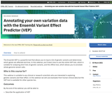 Annotating your own variation data with the Ensembl Variant Effect Predictor (VEP)