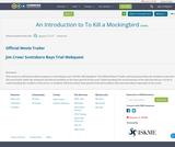 An Introduction to To Kill a Mockingbird