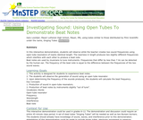 Investigating Sound: Using Open Tubes To Demonstrate Beat Notes