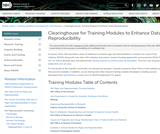 NIGMS Clearinghouse for Training Modules to Enhance Data Reproducibility