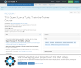 Open Source Tools: Train-the-Trainer Course