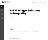 A-REI Integer Solutions to Inequality