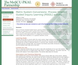 Metric System Conversions: Process Oriented Guided Inquiry Learning (POGIL) activity