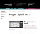 Folger Digital Texts