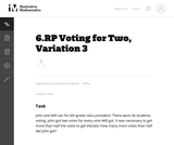 Voting for Two, Variation 3