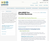 2014 GED® Test Teacher Resources