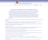 Declaration of Independence of the Democratic Republic of Vietnam