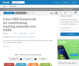 Corre OER Framework for transforming teaching materials into OERS