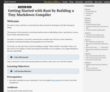 Getting Started with Rust by Building a Tiny Markdown Compiler