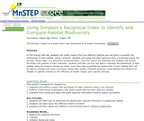 Using Simpson's Reciprocal Index to Identify and Compare Habitat Biodiversity