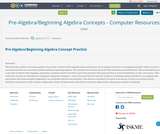 Pre-Algebra/Beginning Algebra Concepts - Computer Resources