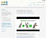 Innate Behaviour | Ecology & Environment | the virtual school