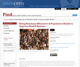 Using Summary Measures of Population Health to Improve Health Systems