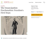 The Emancipation Proclamation: Freedom's First Steps