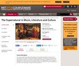 The Supernatural in Music, Literature and Culture, Fall 2013