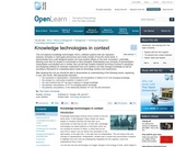 Knowledge Technologies in Context