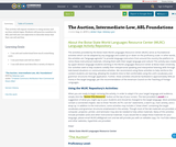 The Auction, Intermediate-Low, ASL Foundations