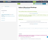Index to Educational Hashtags