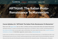 The Italian Proto-Renaissance To Mannerism