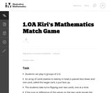 Kiri's Mathematics Match Game