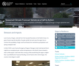 Seasonal Climate Forecast Serves as a Call to Action