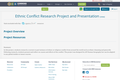 Ethnic Conflict Research Project and Presentation
