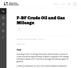 Crude Oil and Gas Mileage