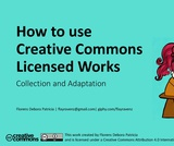 How to use creative commons licensed works