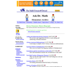 Ask Dr. Math Elementary History/Biography