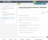 Coping with Complexity Checklist —High School