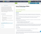 Learn: Technology at Work
