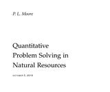 Quantitative Problem Solving in Natural Resources