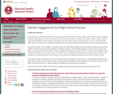 Family Engagement for High School Success