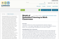 Model of Embedded Tutoring in Math Classrooms