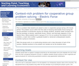 Context-Rich Problem for Cooperative Group Problem Solving - Electric Force