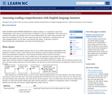 Assessing Reading Comprehension With English Language Learners
