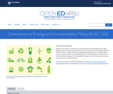 Orientation to Energy and Sustainability Policy