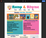 Romp & Rhyme Storytime Parent Activity Sheet: Pick Me! Pick Me!