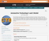 Automotive Technology 1 and 2 Model