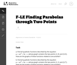 Finding Parabolas Through Two Points