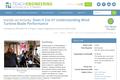 Does It Cut It? Understanding Wind Turbine Blade Performance